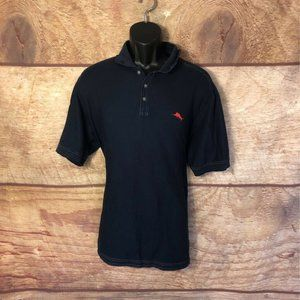 Tommy Bahama Mens Polo Shirt Blue Short Sleeve XL